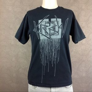 KR3W Graphic T Shirt Krew Black Men's M Skate
